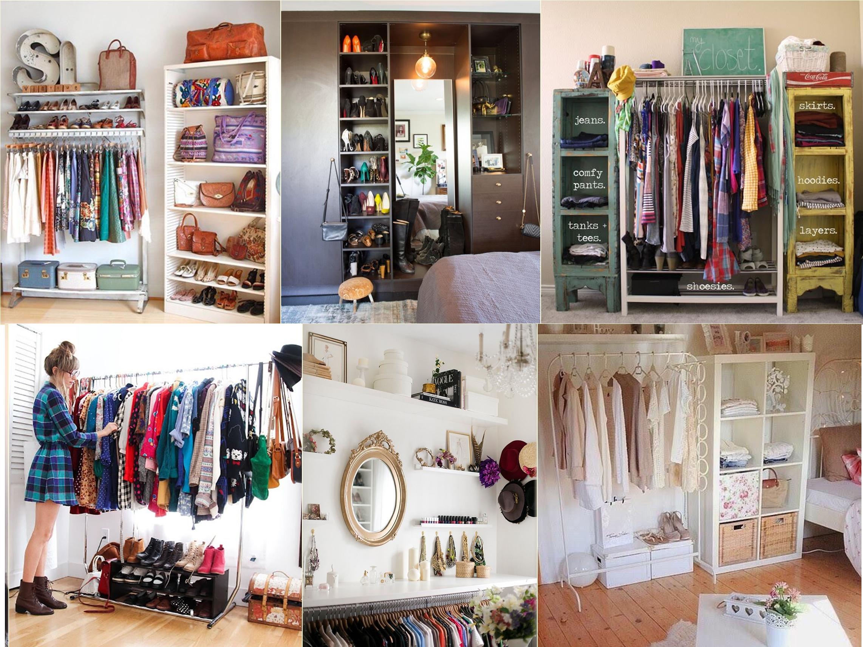 Como Fazer Um Closet Em Espa Os Pequenos  ~ Decoração De Quarto Criativo E Closet No Quarto Pequeno